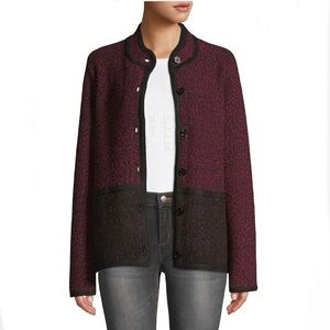 KARL LAGERFELD Marble Colorblock Tweed Jacket